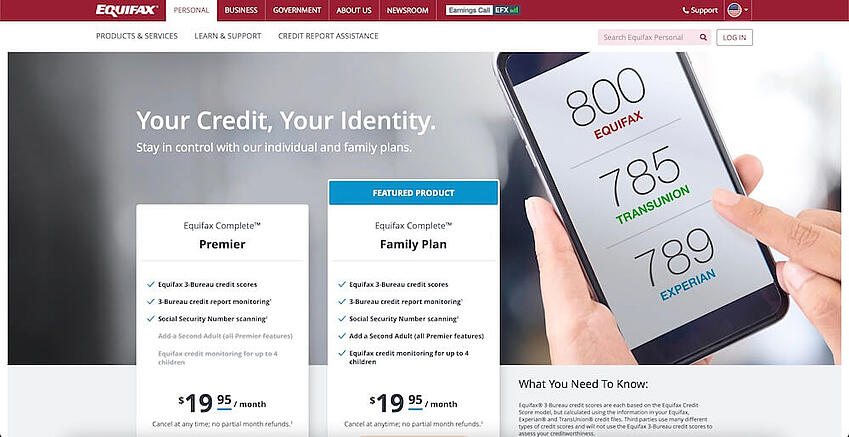 Equifax is one of the main agencies that produces credit reports